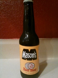 Mason's Root Beer Glass Bottle