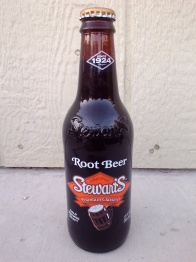 Stewart's Root Beer Glass Bottle